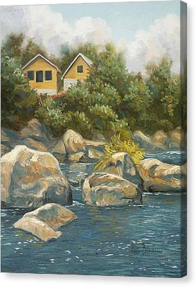 By The River Canvas Print by Lucie Bilodeau
