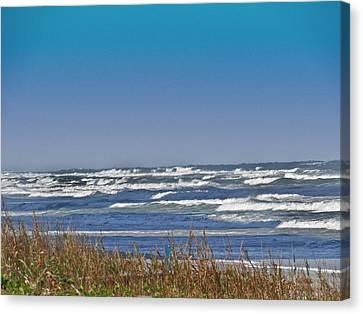 By The Sea Canvas Print by Dennis Dugan