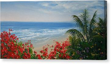 By The Sea I Canvas Print by Mary Taglieri