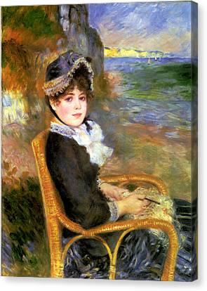 By The Seashore Canvas Print by Pierre Auguste Renoir