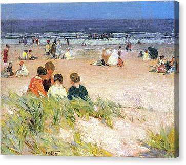 By The Shore Canvas Print by Edward Potthast