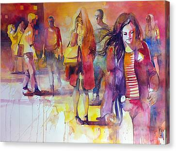 By The Street Canvas Print by Alessandro Andreuccetti