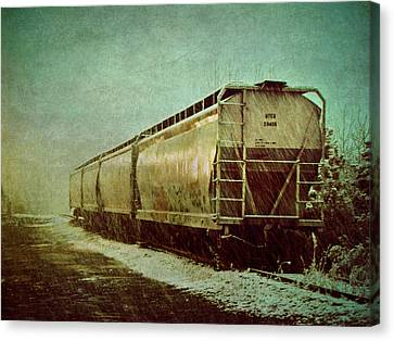 By The Tracks Canvas Print