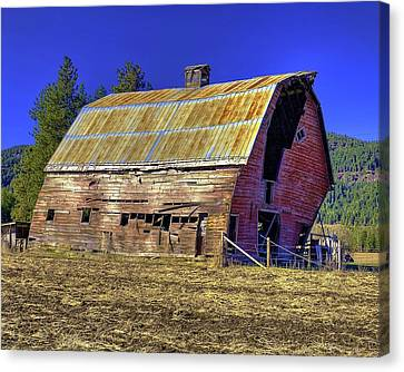 Bygone Barn Canvas Print
