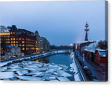 Bypass Canal Of Moscow River - Featured 3 Canvas Print