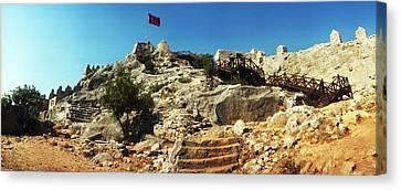 Byzantine Castle Of Kalekoy Canvas Print