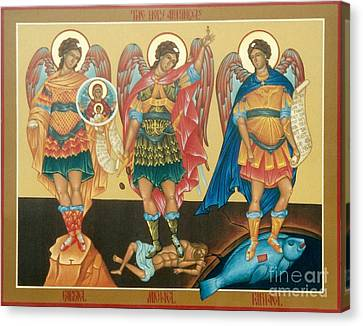 Byzantine Icon Canvas Print by Archangelus Gallery