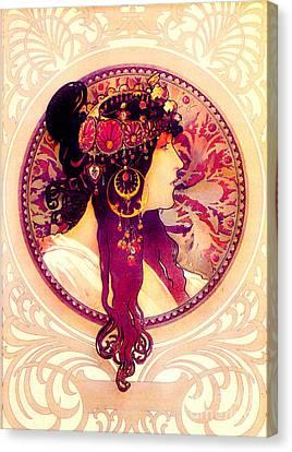 Byzantine Profile C1895 Z Canvas Print by Padre Art