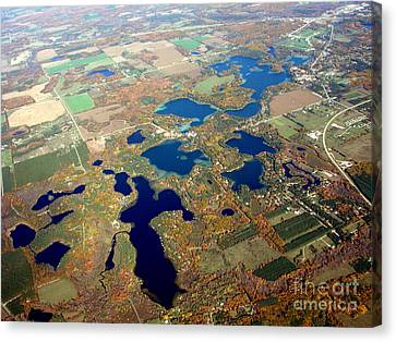 C-020 Chain O Lakes Waupaca Wisconsin Fall Canvas Print by Bill Lang