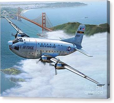 C-124 Shakey Over The Golden Gate Canvas Print