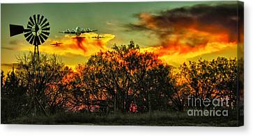 Wildfire C-130  Canvas Print by Robert Frederick