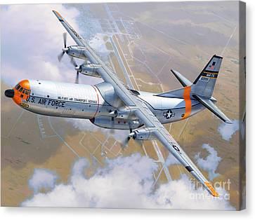 C-133 Cargomaster Over Travis Canvas Print