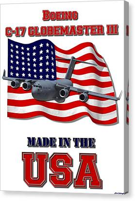 C-17 Globemaster IIi Made In The Usa Canvas Print