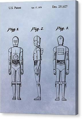 C-3po Patent Canvas Print