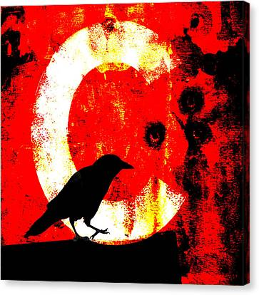 C Is For Crow Canvas Print by Carol Leigh