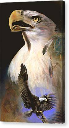 Canvas Print featuring the pastel Contact 2 - Pastel Art  by Brooks Garten Hauschild