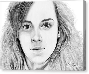 Hermione Granger Canvas Print by Suranga Basnagala