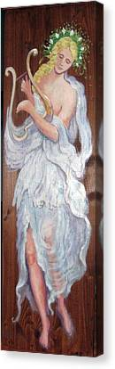C14. Harpist Canvas Print