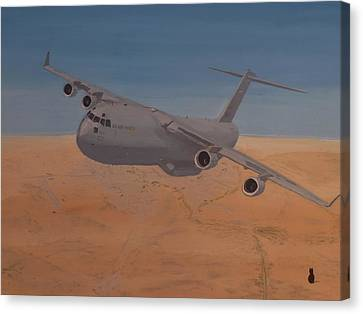 C17 Out Of Baghdad Canvas Print by Jonathan Laverick