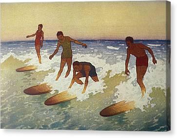 C.1927 Hawaii, Painting, Charles Canvas Print by Hawaiian Legacy Archive