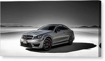 C63 Amg Canvas Print by Douglas Pittman