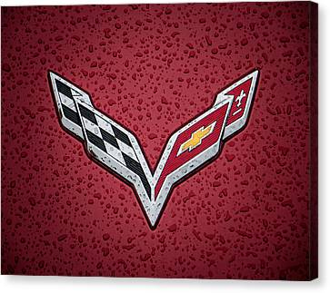 Chevrolets Canvas Print - C7 Badge by Douglas Pittman