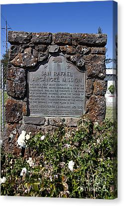 Ca-220 San Rafael Arcangel Mission Canvas Print by Jason O Watson