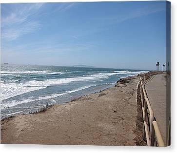 Ca Beach - 12125 Canvas Print by DC Photographer