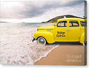 Unusual Canvas Print - Cab Fare To Maui by Edward Fielding