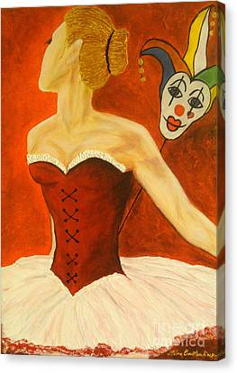 Cabaret Ballerina Canvas Print by Elena  Constantinescu