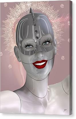 Cabaret Of The Spiritual Robot Canvas Print by Quim Abella