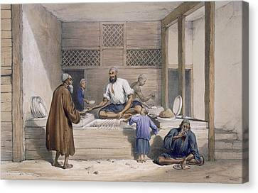 Cabaub Shop, Cabul, 1843 Canvas Print