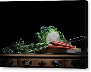 Canvas Print featuring the photograph Cabbage And Carrots by Krasimir Tolev