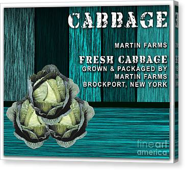 Cabbage Canvas Print - Cabbage Farm by Marvin Blaine