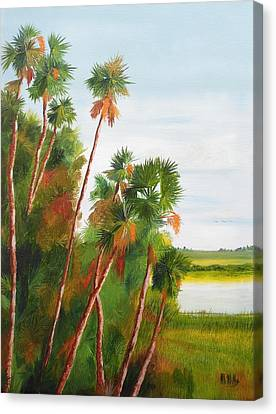 Cabbage Palms Canvas Print