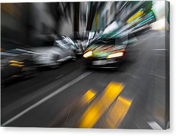 Cabbie Too Fast Canvas Print by Scott Campbell