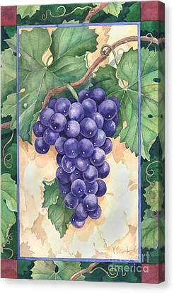 Cabernet Grapes Canvas Print by Paul Brent