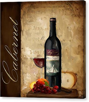 Purple Grapes Canvas Print - Cabernet IIi by Lourry Legarde