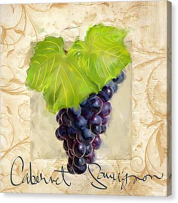 Cabernet Sauvignon Canvas Print by Lourry Legarde
