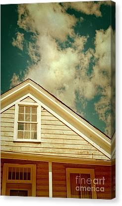 Cabin And Clouds Canvas Print by Jill Battaglia