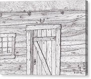 Cabin Canvas Print by Clark Letellier