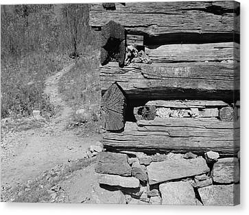 Cabin Construction, 1935 Canvas Print by Granger