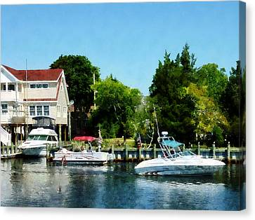 Canvas Print featuring the photograph Cabin Cruisers by Susan Savad
