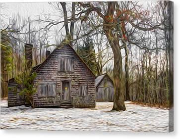 Cabin Dream Canvas Print by Debra and Dave Vanderlaan