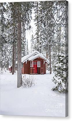 Charming Cottage Canvas Print - Cabin Fever by Evelina Kremsdorf