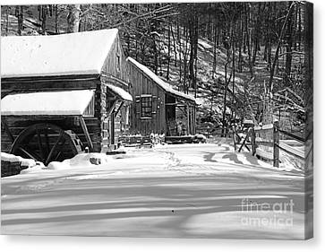 Cabin Fever In Black And White Canvas Print by Paul Ward