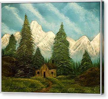 Cabin Getaway Canvas Print by Joyce Krenson