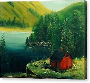 Cabin In The Catskills Canvas Print