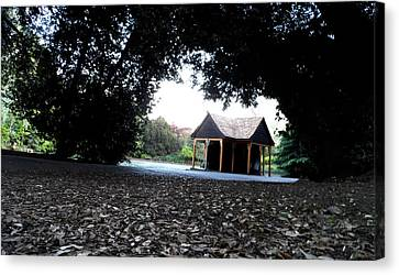 Cabin In The Woods Canvas Print by Alex Rodriguez