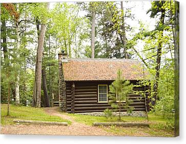 Cabin In The Woods Canvas Print by Dacia Doroff